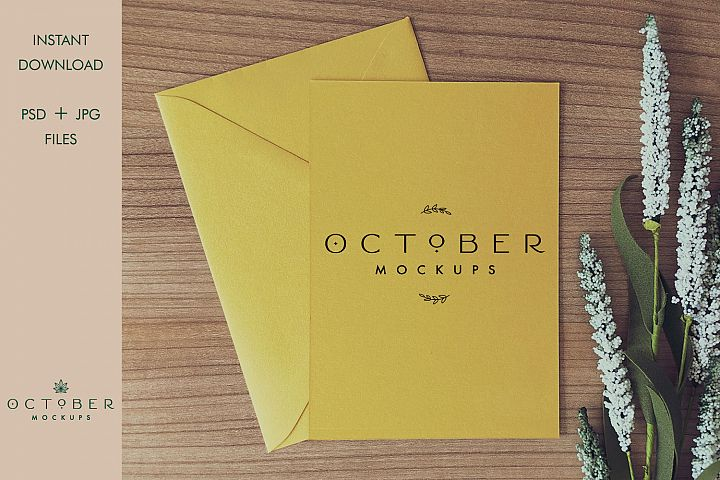 Mockup card & envelope   Invitation mockup   Wedding mockup