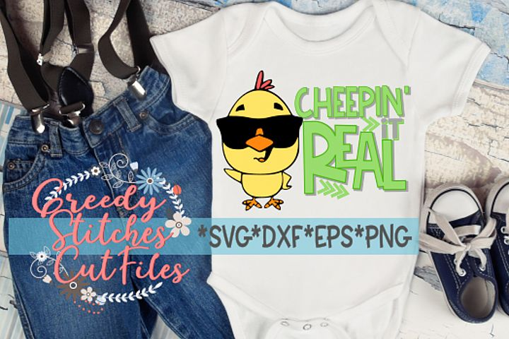 Easter | Cheepin It Real SVG, DXF, EPS, PNG.