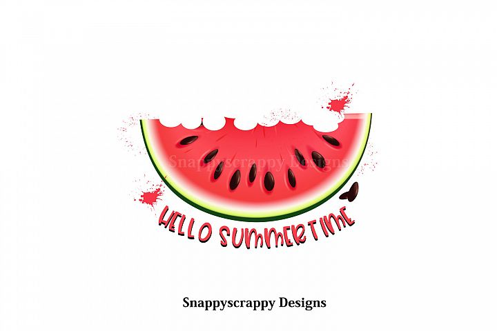 Hello Summertime Melon Sublimation