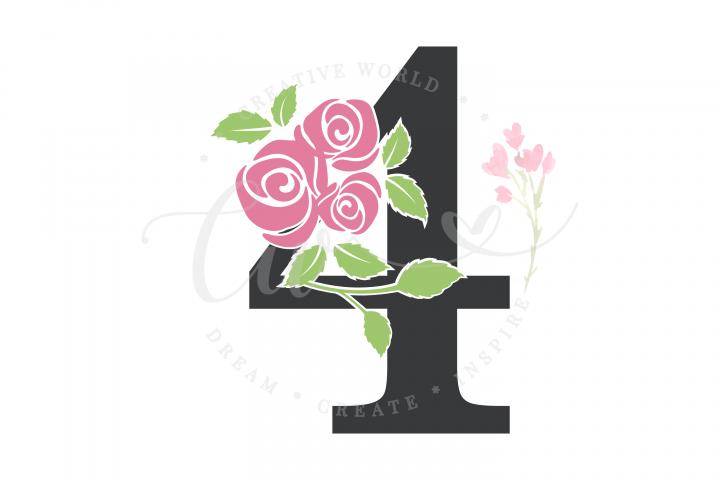 My 4th Birthday Rose Flower SVG | Birthday Girl svg