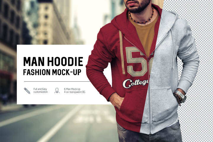 Man Hoodie Fashion Mock-Up