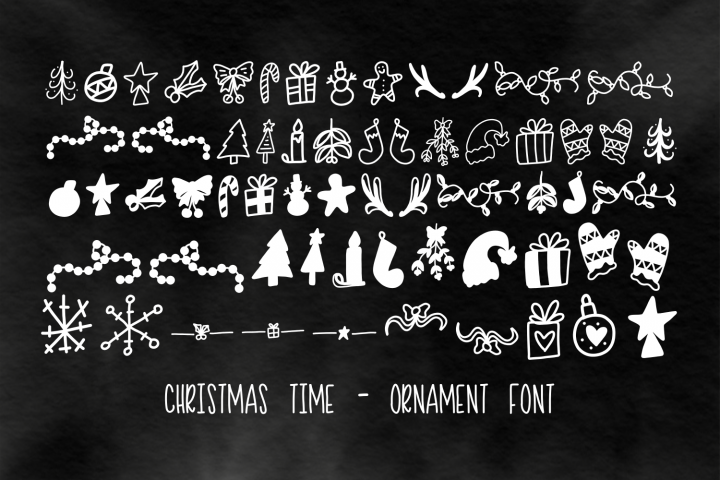Christmas Time - Ornament Font