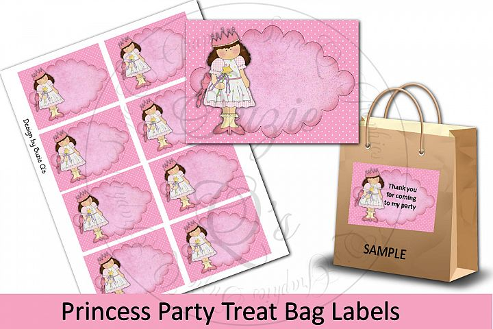 Princess Party Treat Bag Labels