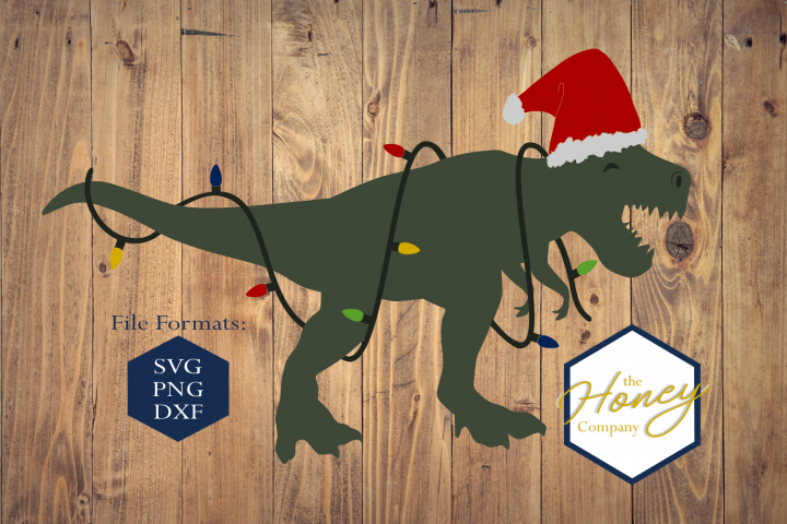 Chrismas Dinosaur SVG PNG DXF Christmasaurus Rex Santasaurus