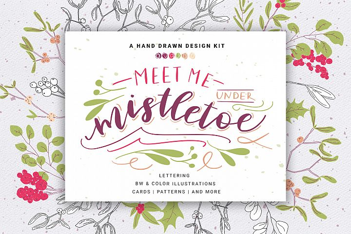 Mistletoe Christmas Design Kit