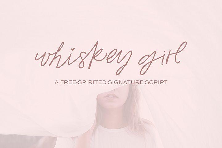 Whiskey Girl Signature Font