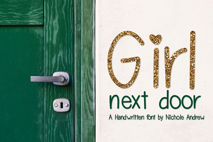 Girl Next Door, A handwritten font