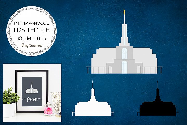 Mount Timpanogos Utah LDS Temple Clipart