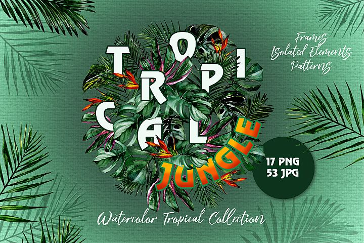 Tropical Jungle Watercolor png