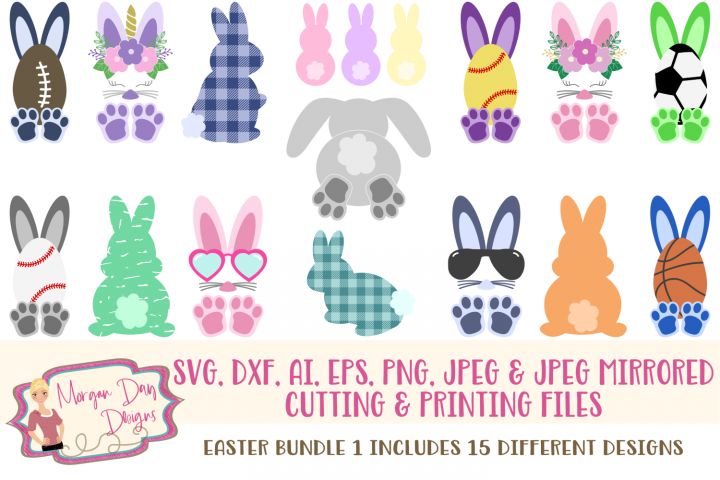Easter SVG Bundle 1- Easter SVG, DXF, AI, EPS, PNG, JPEG