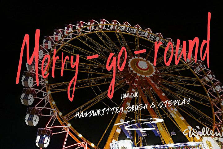 Merry go round Font Duo plus Extra swashes