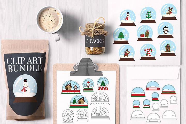 Christmas Snow Globes Bundle