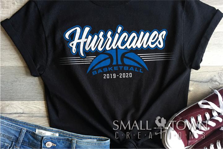 Hurricanes, Basketball, Sport, Design, PRINT, CUT, DESIGN