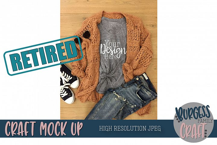 Cozy sweater Craft Mock up | High Resolution JPEG