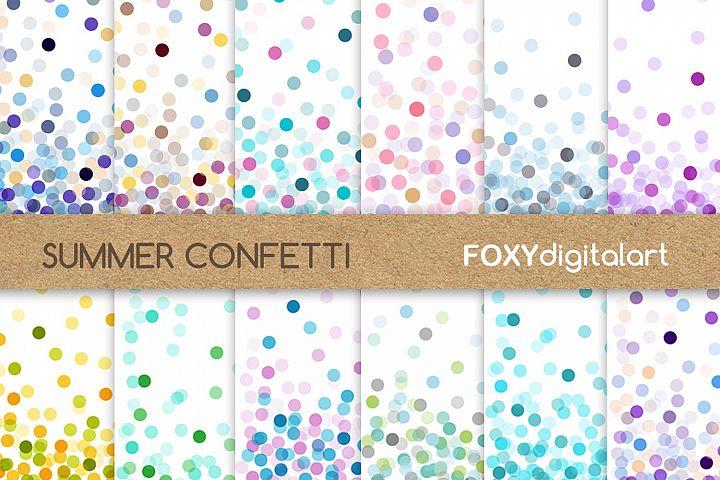 Confetti Digital Paper Pack Wedding Throw Some Confetti