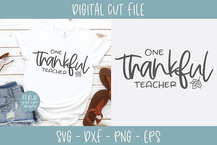 One Thankful Teacher - SVG