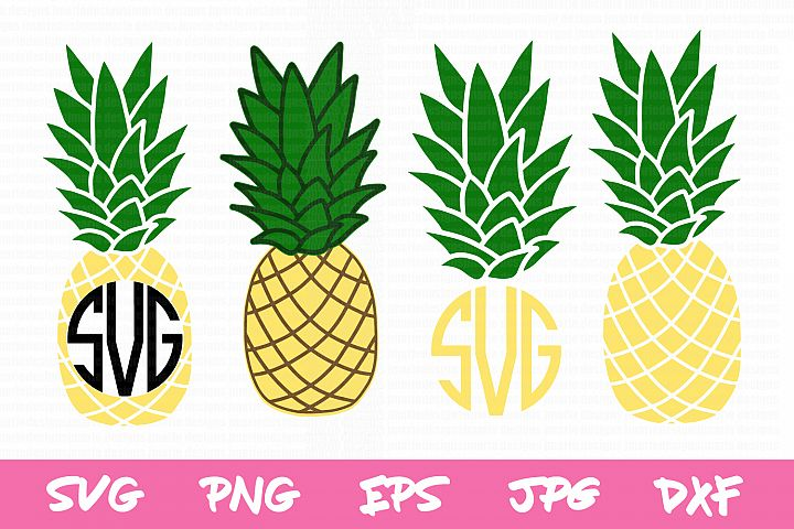 Pineapple svg, summer, pineapple monogram, monogram bundle