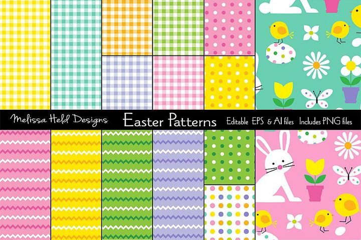 Easter Plaids, Stripes & Patterns