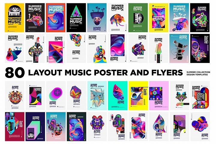 80 Music Illustration for Event Poster and Magazine