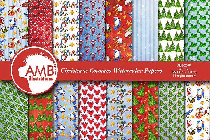 Christmas Gnome, Scandinavian Gnome papers AMB-2679