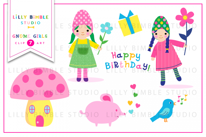 Gnome Girls Clipart