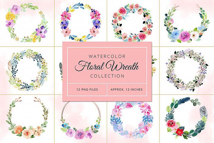 Watercolor Floral Wreaths Vol.3