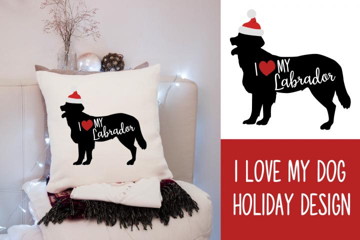 Christmas Labrador - Print, Cut or use Digitally-SVG,EPS,PNG