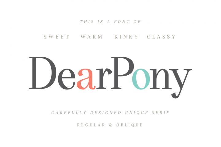 DearPony Sweet Classy Serif Font
