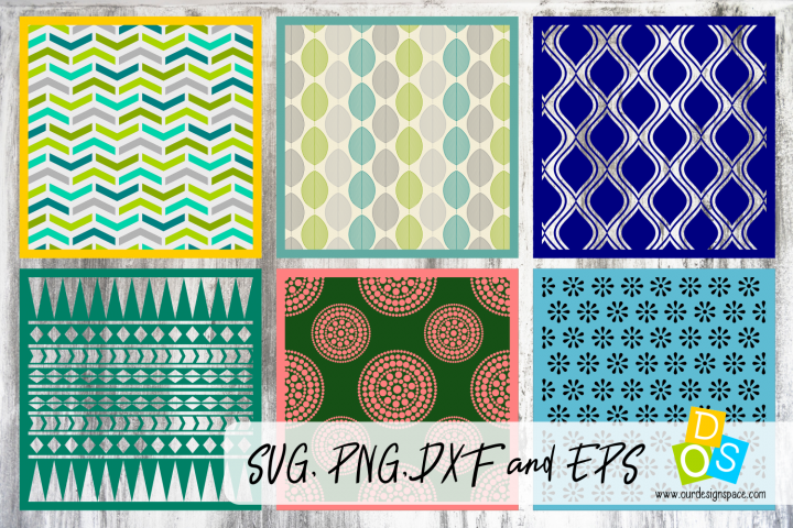 Layered Patterns and Stencils SVG, PNG, DXF and EPS files