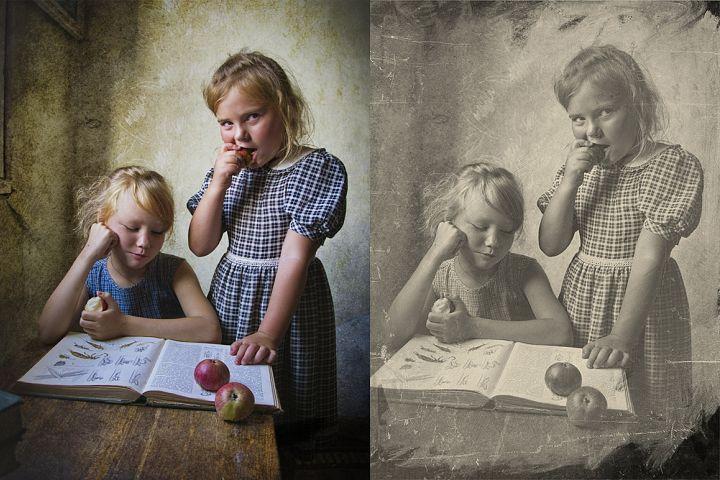 Vintage Old Photo Effect Overlays - Free Design of The Week Design 6