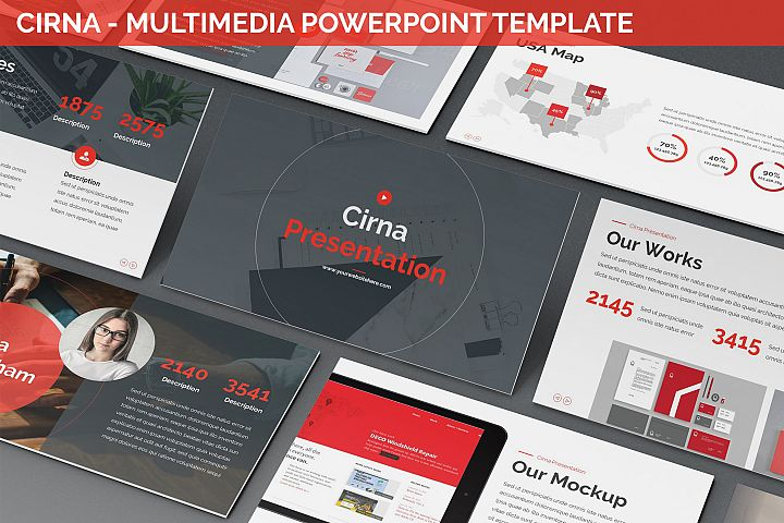 Cirna - Multimedia Powerpoint Template