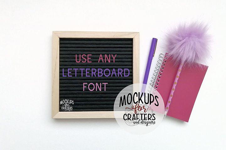 Felt Letterboard Mock-Up