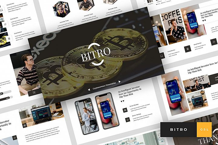 Bitro - Criptocurrency Google Slides Template