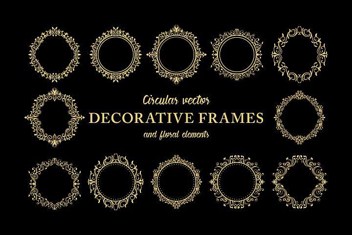 Floral Decorative Ornate Frames