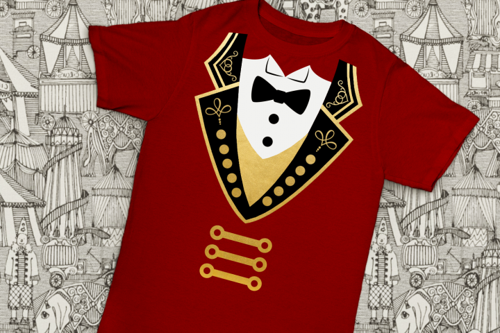 Circus Ringmaster Coat and Tuxedo SVG File Cutting Template