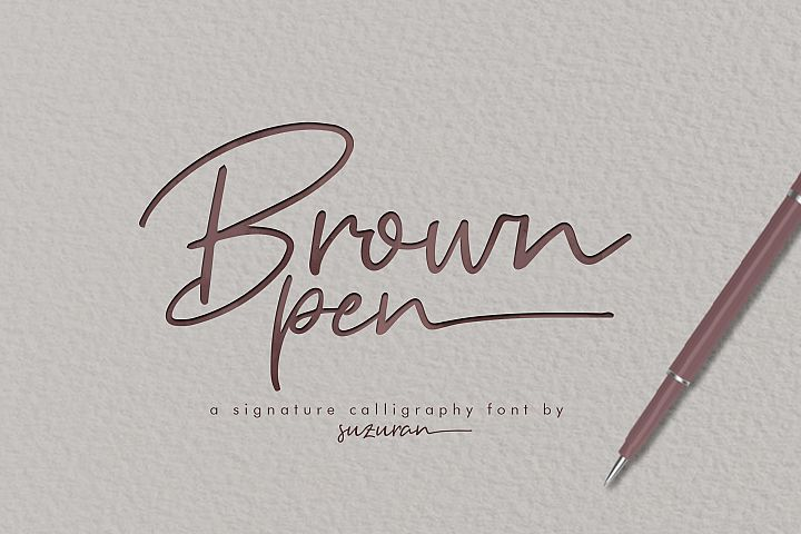 Brown Pen Script
