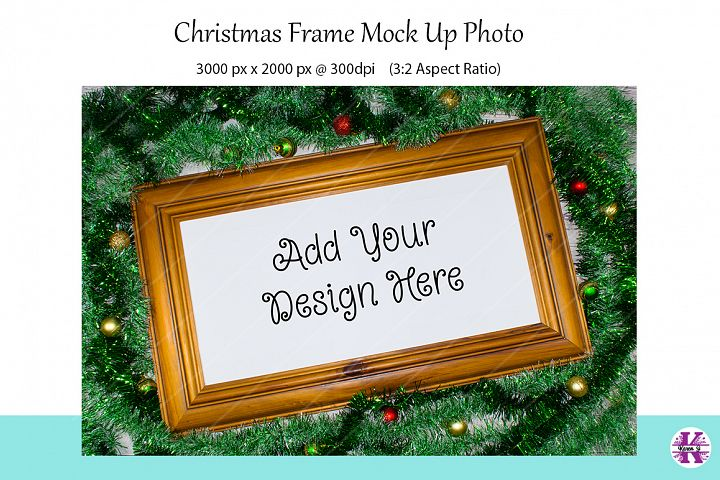 Christmas Frame Mock Up jpg