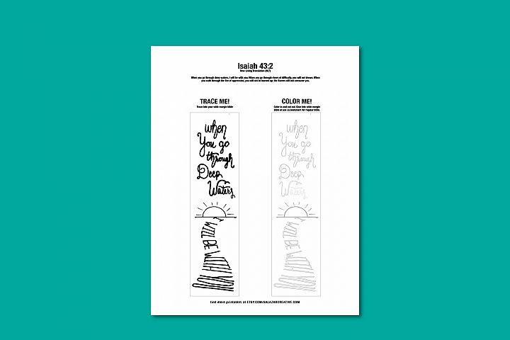 Printable Bible verse coloring page