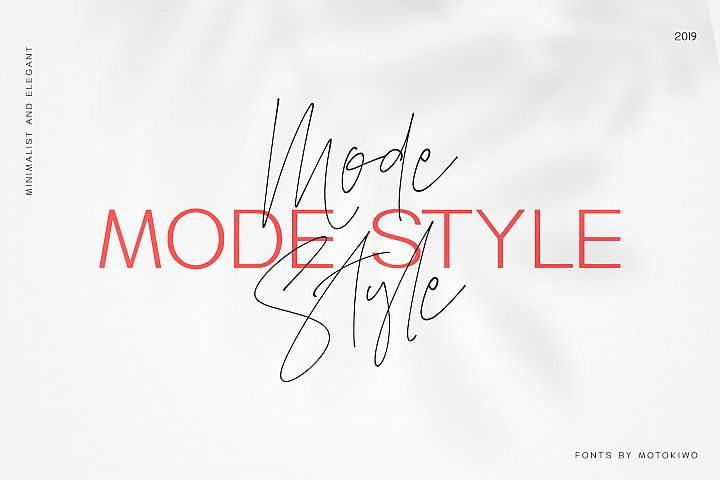 Mode Style Font Duo