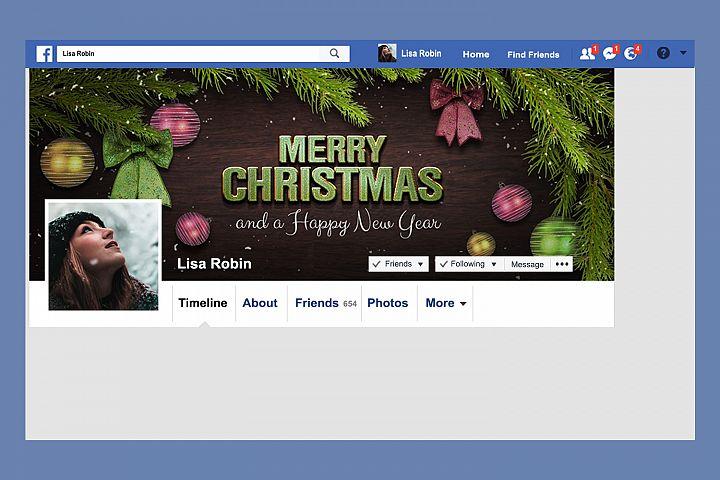 Christmas Facebook Timeline Cover & Instagram Banner PSD