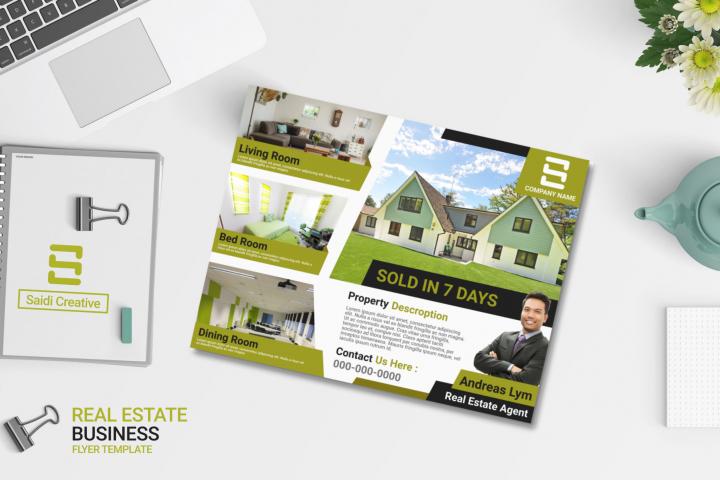 Real Estate Business Flyer Template   US Flyer Landscape