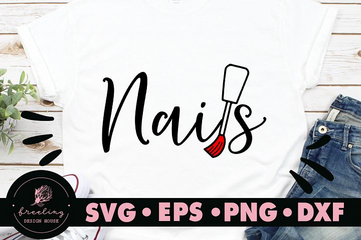 Nails SVG DXF EPS PNG