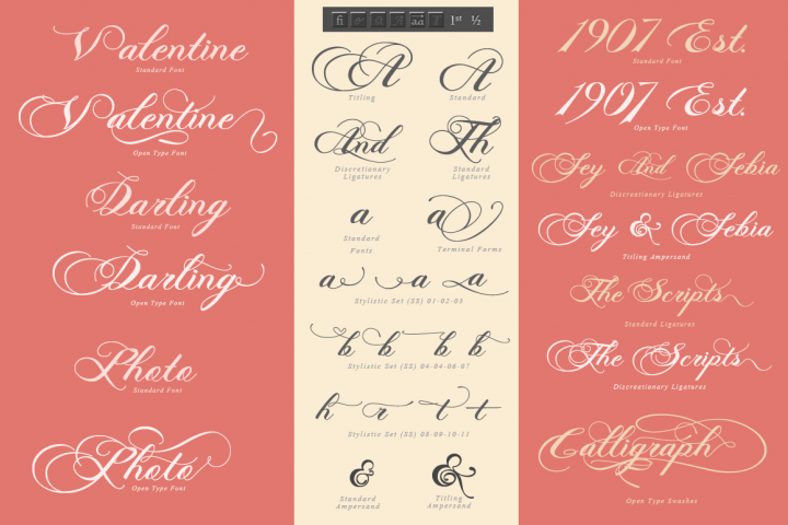 Photograph - Script Wedding Font - Free Font of The Week Design1