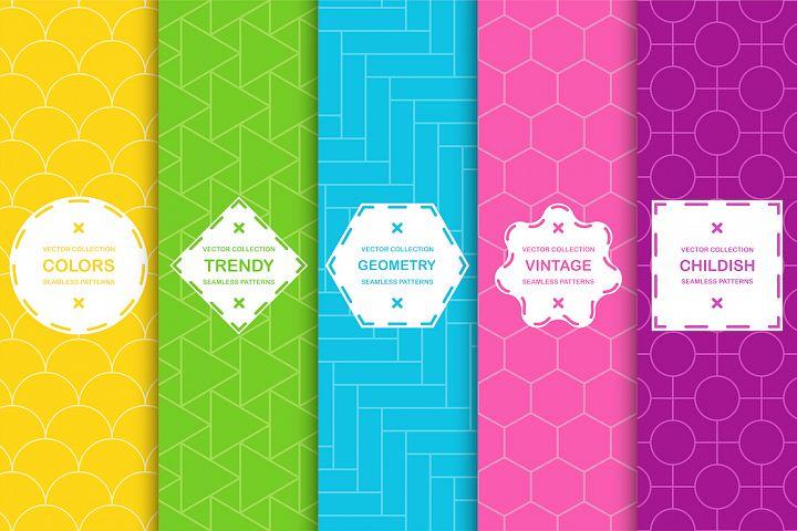 Vibrant seamless geometric patterns