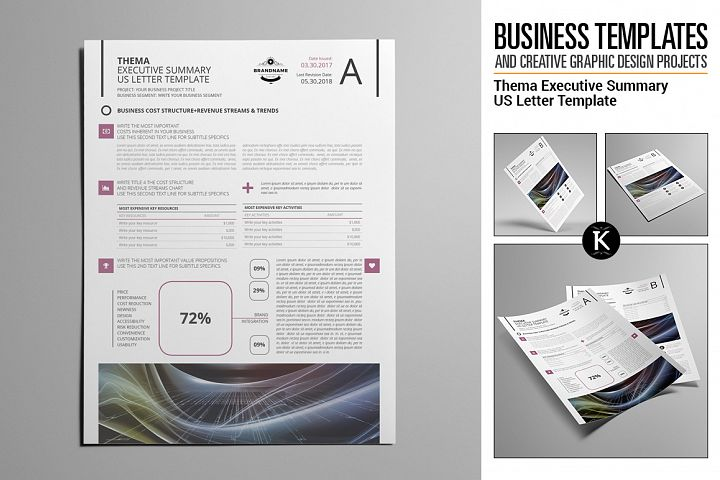 Thema Executive Summary US Letter Template