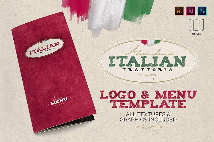 Italian Trattoria Menu & Logo
