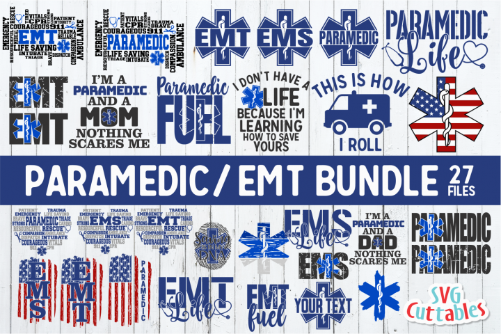 Paramedic / EMT Bundle 1 | SVG Cut File