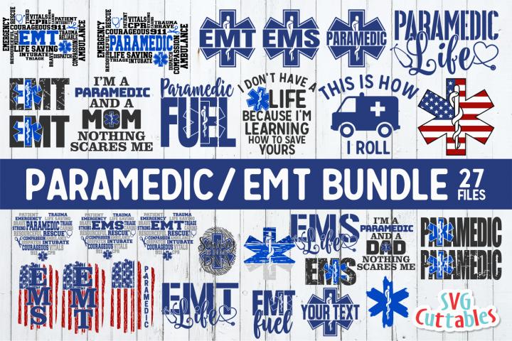 Paramedic / EMT Bundle 1 | SVG Cut File