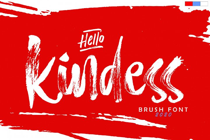 Hello Kindess Brush Font & Extras