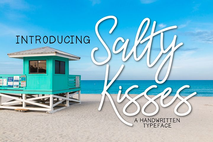 Salty Kisses a Handwritten Typeface